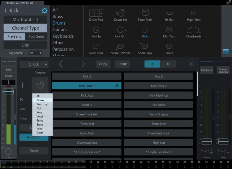 Zahlreiche Presets für diverse Instrumente und Signaltypen stehen zur Verfügung