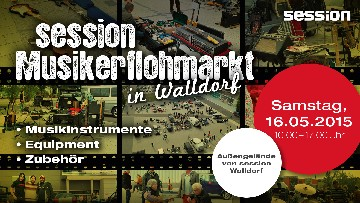 session Musikerflohmarkt am 16. Mai in Walldorf