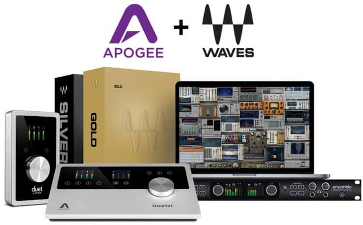 Audio Interfaces von Apogee jetzt mit Plugins von Waves