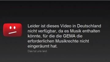 Klage abgewiesen: GEMA gegen Youtube