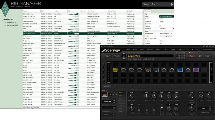 Kemper Profiling Amp vs. Axe-FX II XL - Software