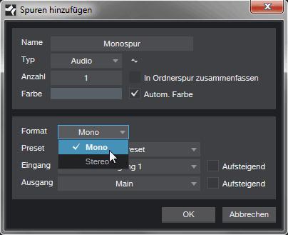 FAQ: Warum kommt die Aufnahme nur von links?