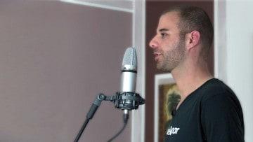 Mikrofon aufstellen im Raum - delamar