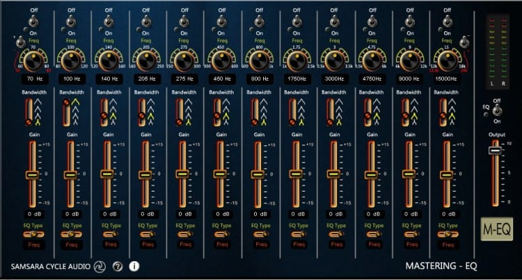 Freeware Friday: Samsara Cycle Audio M-EQ - Mastering Equalizer
