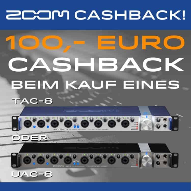 Zoom Cashback: 100 Euro geschenkt für ein Interface mit 8 Kanälen