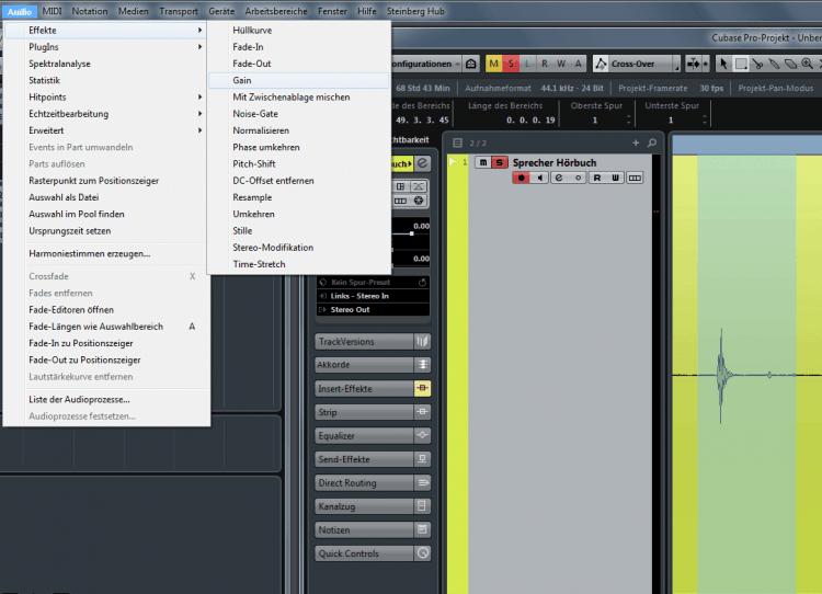Tutorial: Knackser in Audiomaterial entfernen