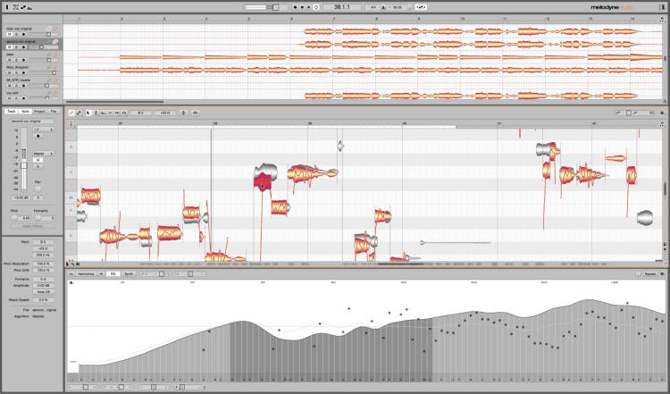 Audio-Editor - Celemony Melodyne 4