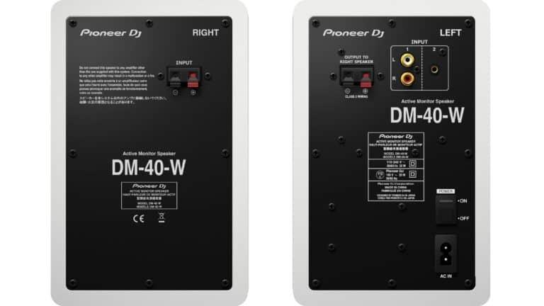 Die gewohnte Rückansicht des Pioneer DJ DM-40.