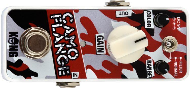 Kong Effektpedale Testbericht - Kong Camo-Flange