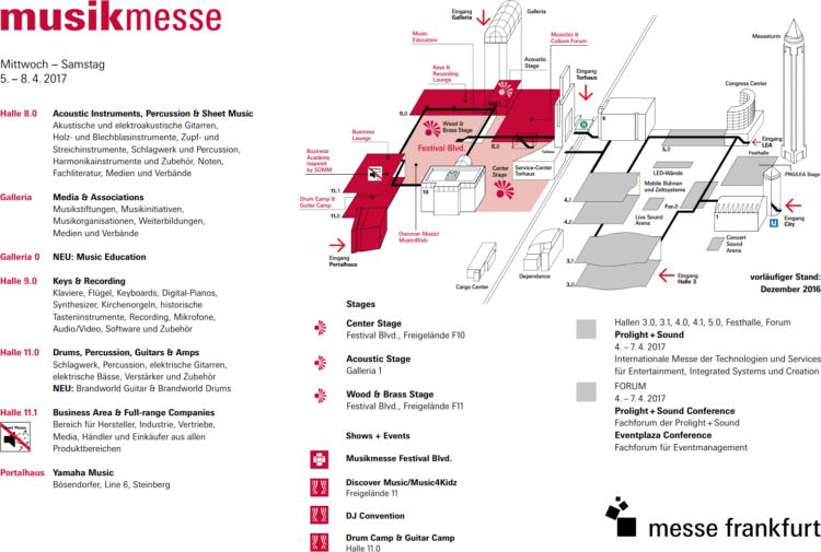 Musikmesse 2017 Geländeplan