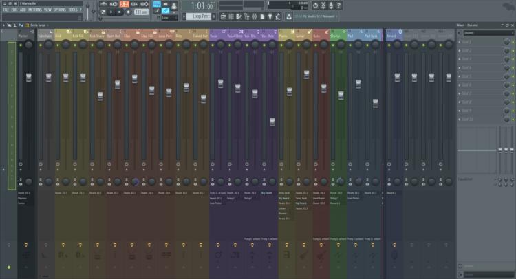 fl studio 12 mixer