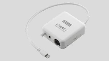 Der Korg plugKEY bietet MIDI-, Klinke- und microUSB-Anschluss.