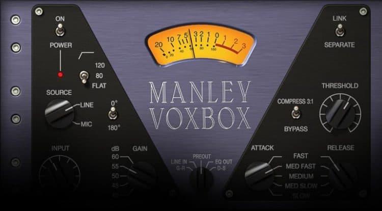 Das Userinterface des Manley VOXBOX Plugins.