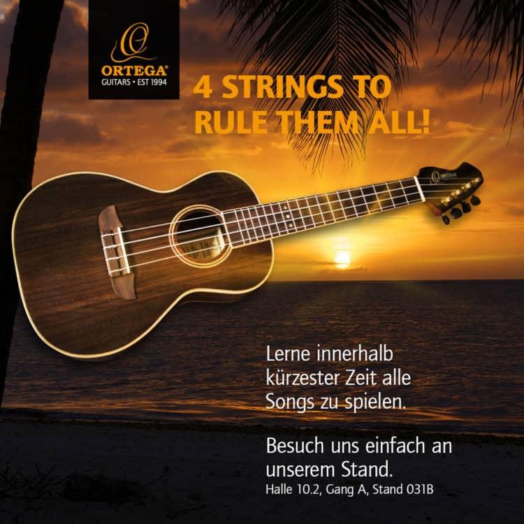 Ukulele spielen & gewinnen - Ortega Guitars auf der Gamescom