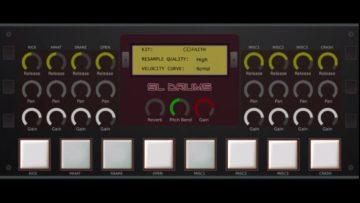 Beatmaker SL-Drums 2 mit übersichtlichem Userinterface.