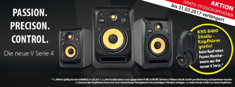 KRK V-Serie 4 -Sonderaktion bis 31. März 2017!