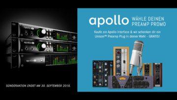 Preamp kostenlos beim Kauf eines Universal Audio Apollo - Aktion bis 30. September