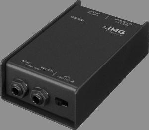 DI-Box, um die unsymmetrischen Signale der Band live mischen zu können - IMG STAGELINE DIB-100