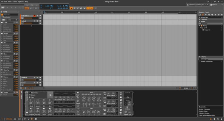 Subtraktive Synthese mit Bitwig Studio - Tutorial