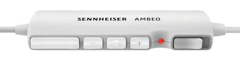 Für spontane Aufnahmen: Die Remote-Control des Sennheiser AMBEO Smart Surround.