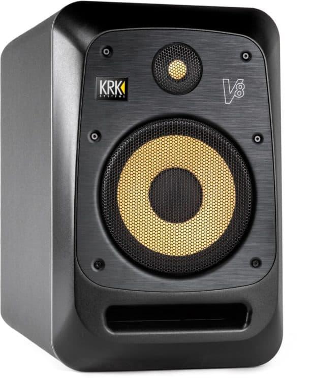 KRK V8S4 Review - Mit Schutzgittern