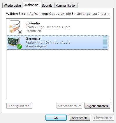 Den kompletten Windows Sound aufnehmen - Stereomix ist eine (Not-)Lösung