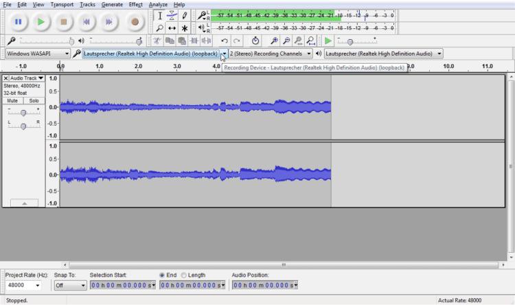 Mit WASAPI Loopback Recording: Windows Sound aufnehmen