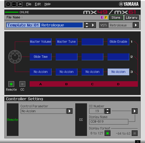 Testbericht zum Yamaha MX88 BU - Remote Editor