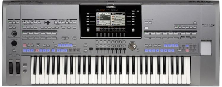 Yamaha Tyros 5 Review - Bedienoberfläche