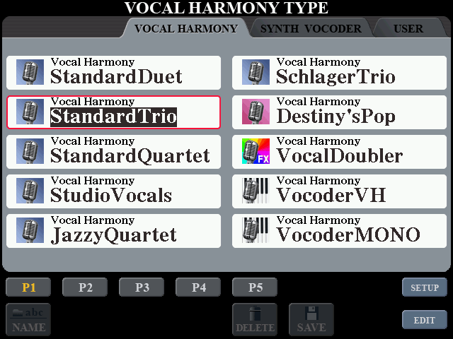 Yamaha Tyros 5 im Test - Vocal Harmony