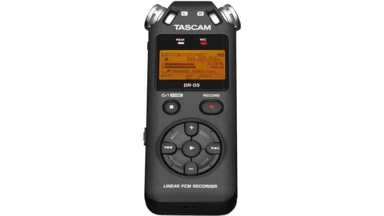 Gitarren-Recording - Tascam DR-05