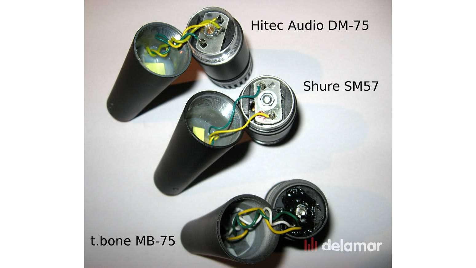 t.bone MB-75 Hitec DM-75 Shure SM57