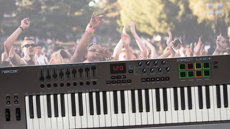 Nektar Impact LX61+ Midi Keyboard Controller.