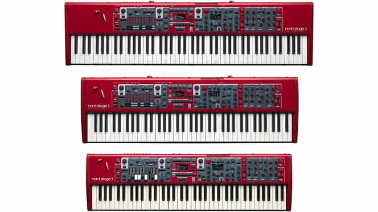 Nord Stage 3 - 88, HP76 und Compact