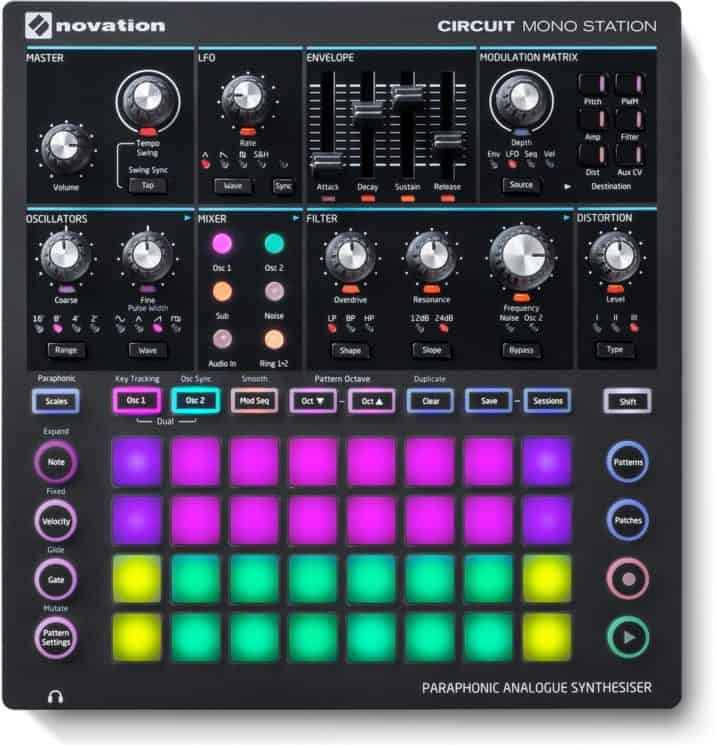 Draufsicht - Novation Circuit Mono Station