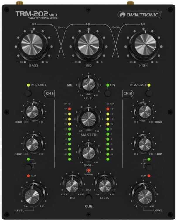 Omnitronic TRM-202MK3 - Bedienoberfläche