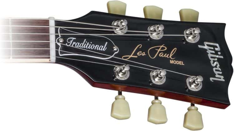 Gibson Les Paul Traditional 2017 T Testbericht - Kopfplatte und Mechaniken