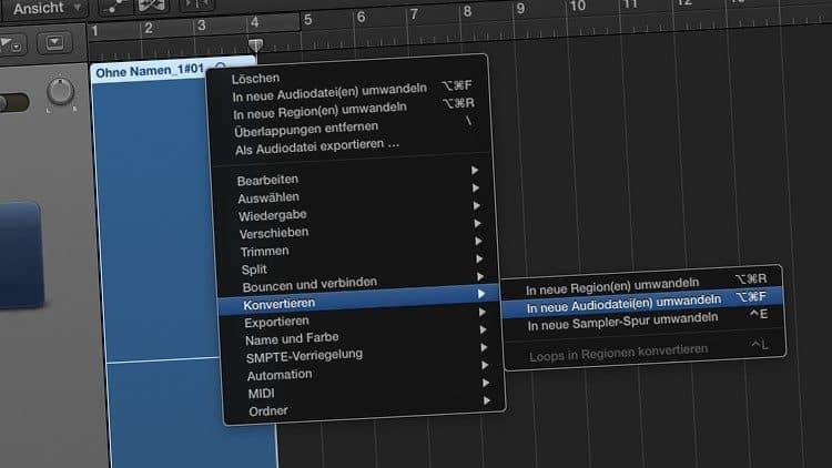 Fehler beim Aufnehmen mit Logic Pro X: Wellenform weg!