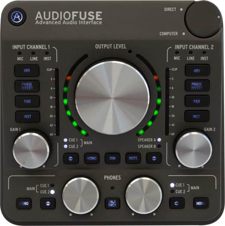 Arturia AudioFuse Testbericht - Oberseite