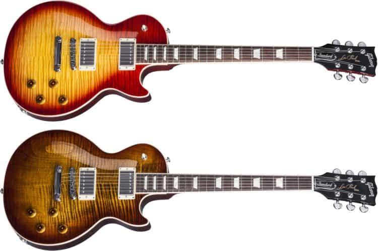 Gibson Les Paul Standard 2017 T Review - Zwei der erhältlichen Farben & Finishes