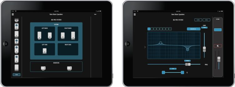 Test des JBL PRX812W - Die iOS App zur bequemen Konfiguration