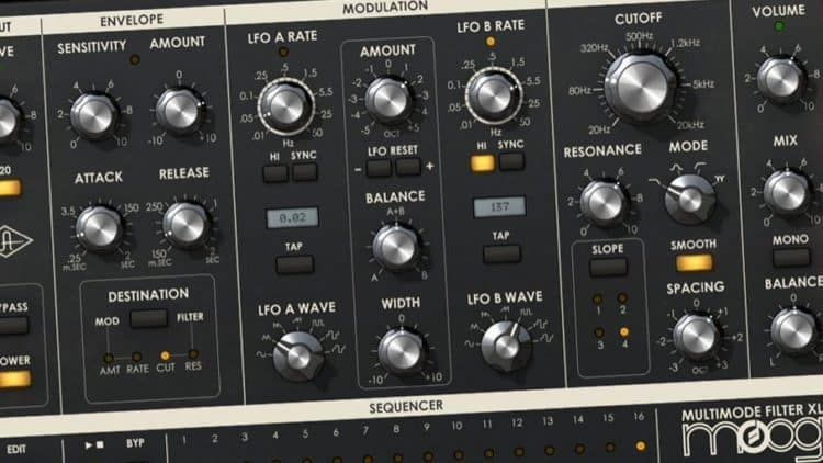 Universal Audio Moog Multimode Filter XL