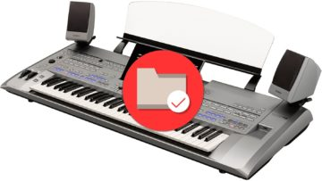 Dateimanagement am Yamaha Tyros 5
