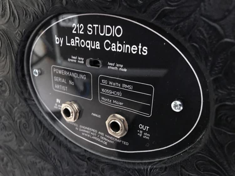 Rückseite mit Anschlüssen - LaRoqua 212 Studio
