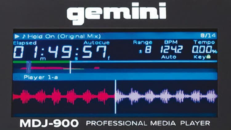 Das Display des Gemini MDJ-900