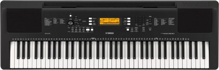 Die Bedienoberfläche des Yamaha PSR-EW300