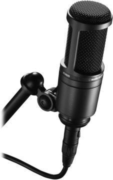 Mikrofonständer + Halterung + Audio-Technica AT2020