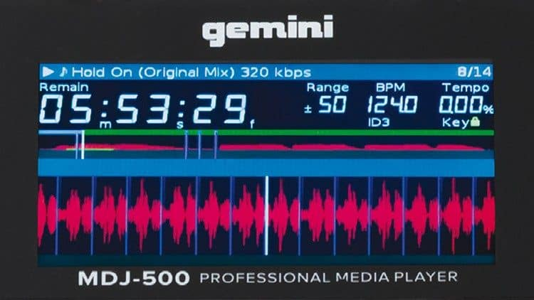 Das Display des Gemini MDJ-500