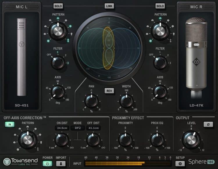 Einstellungen für das Klangbeispiel im Townsend Labs Sphere L22 Review