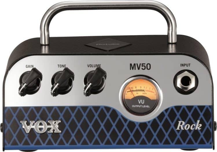 Chickenhead-Regler + VU-Meter vorne am Vox MV50 Rock